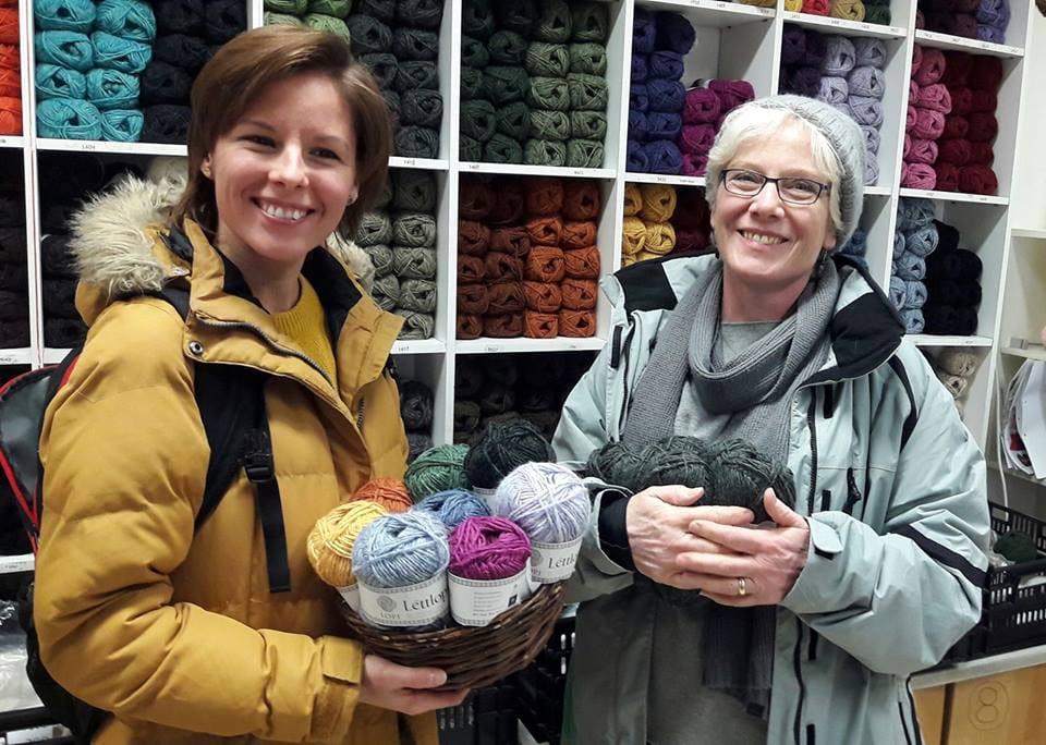 Knitting workshop in Iceland