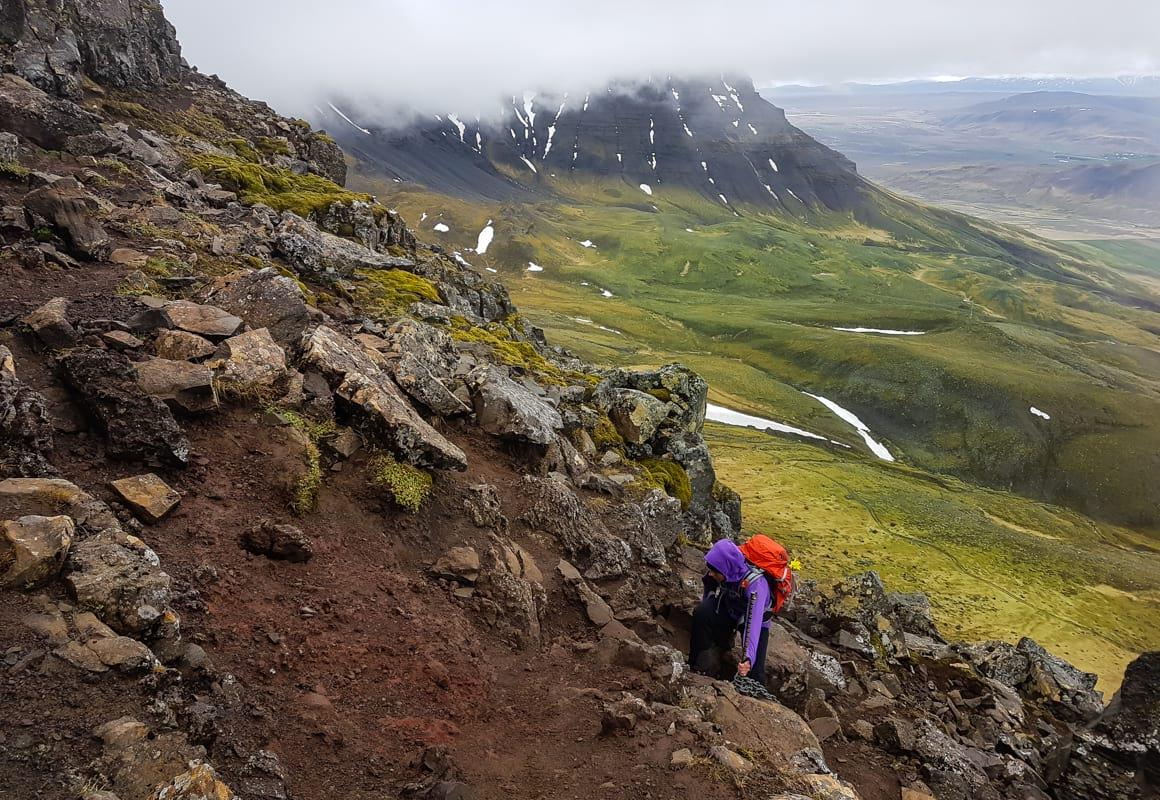 Climbing Mount Esja