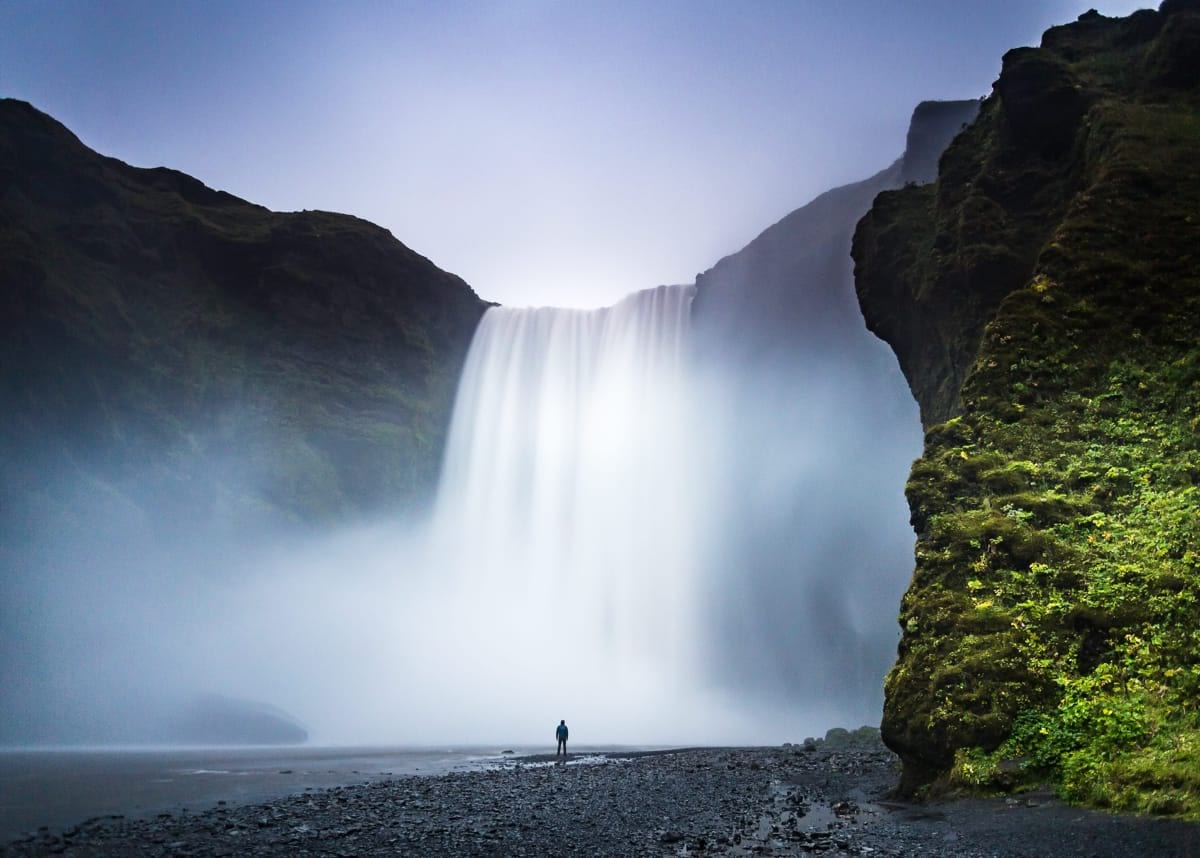 Skógafoss is a picturesque waterfall in the south of Iceland