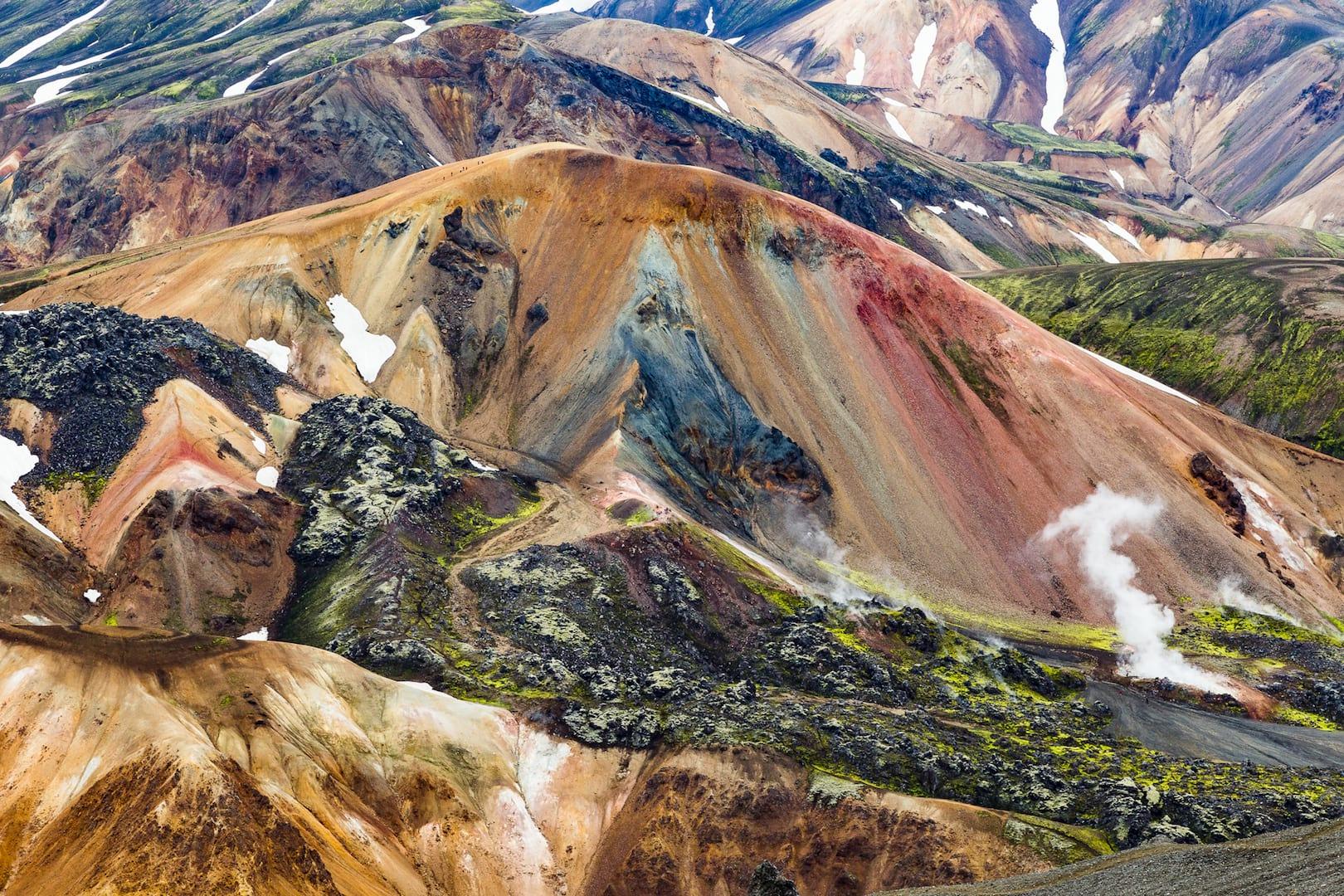 Colorful mountains in Landmannalaugar Iceland