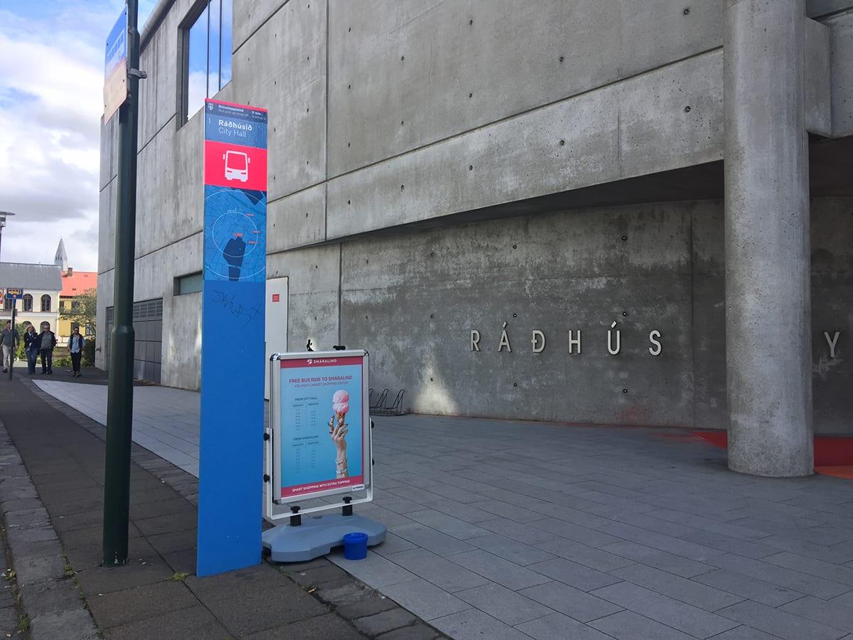 Bus stop 1 Ráðhúsið city hall