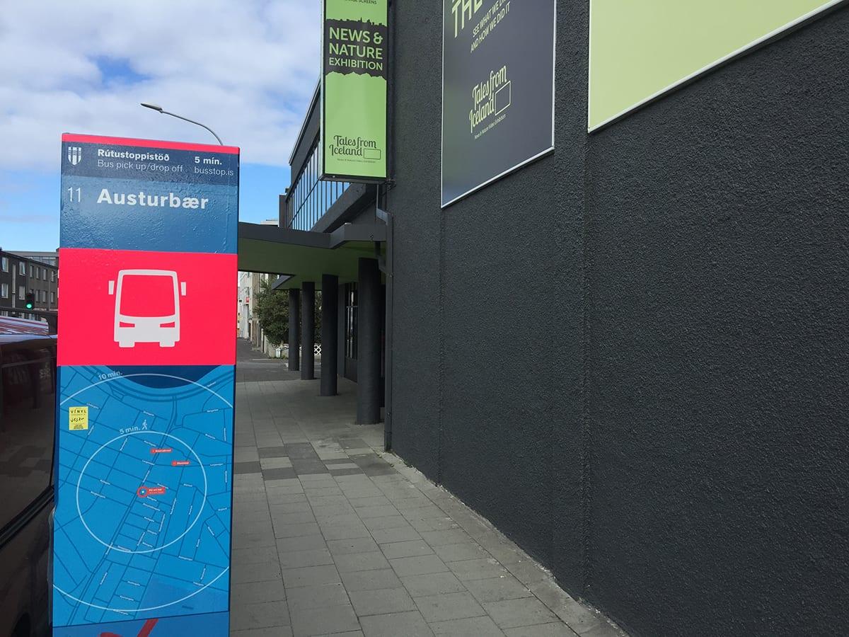Bus stop 11 Austurbær