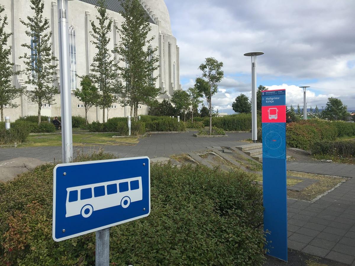 Bus stop 8 Hallgrimskirkja