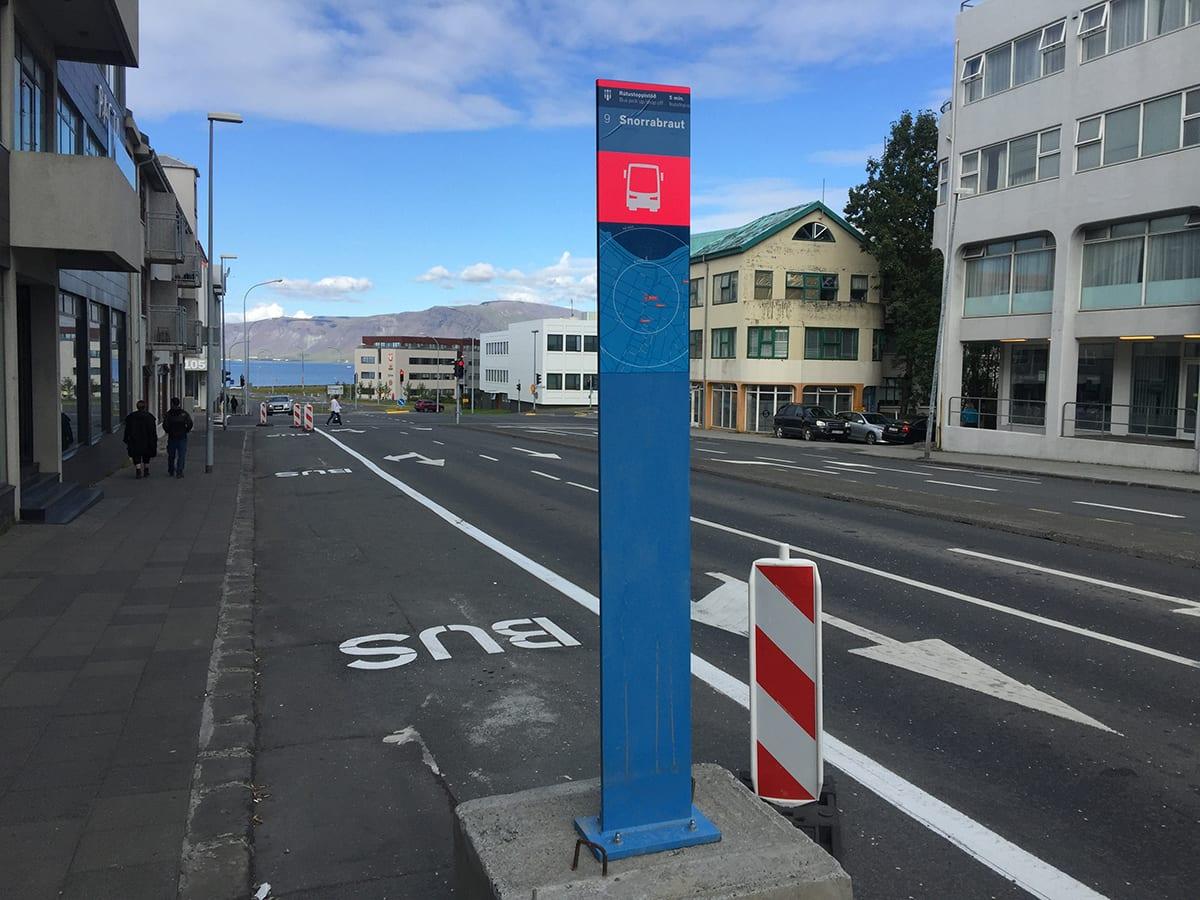 Bus stop 9 Snorrabraut