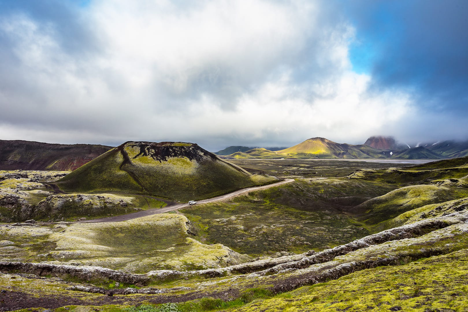 SuperJeep drive off the beaten path in Iceland