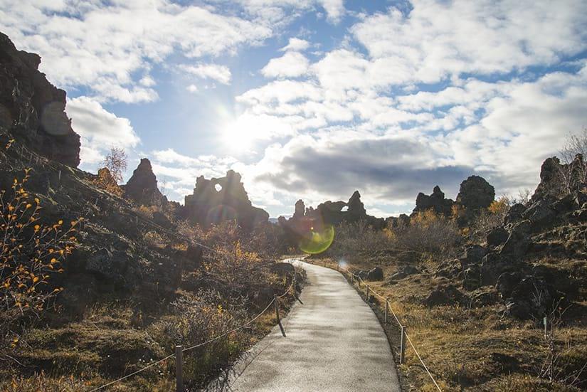 Dimmuborgir is a beautiful lava field