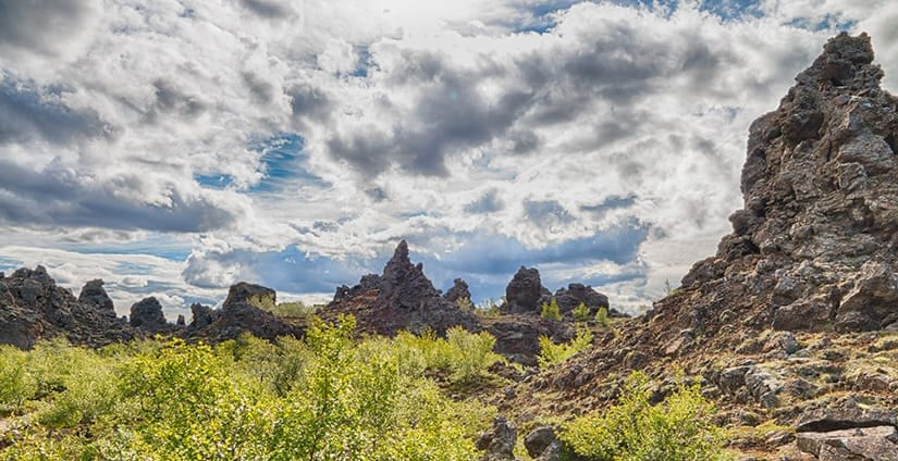 Dimmuborgir are located close to Mývatn in North of Iceland