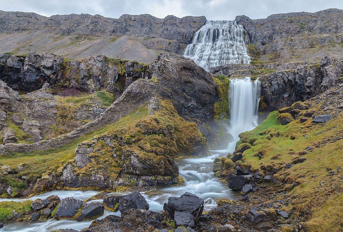 Hæstahjallafoss, Strompgljúfrafoss, Göngumannafoss,Hrísvaðsfoss, Hundafoss and Bæjarfoss
