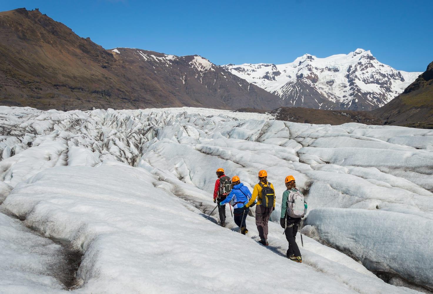 Glacier hike Iceland
