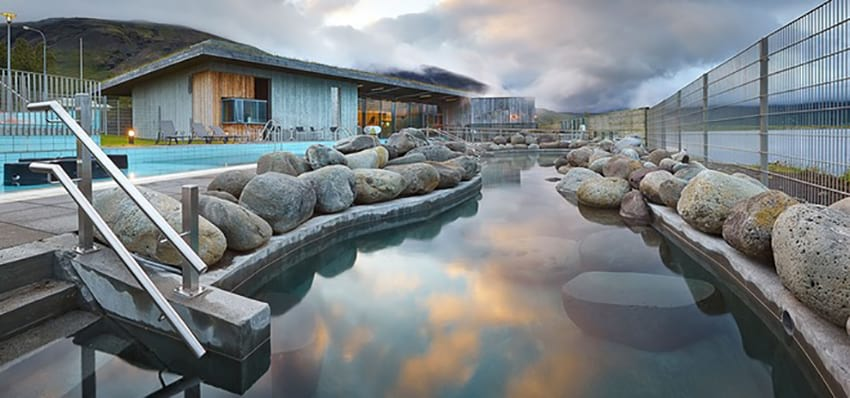 Iceland swimming pool geothermal Fontana