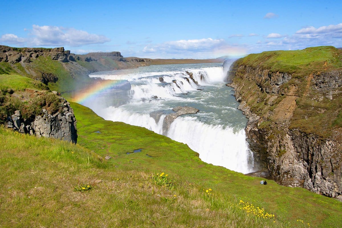 """The most visited waterfalls of the whole country, as part of the """"Golden circle"""""""