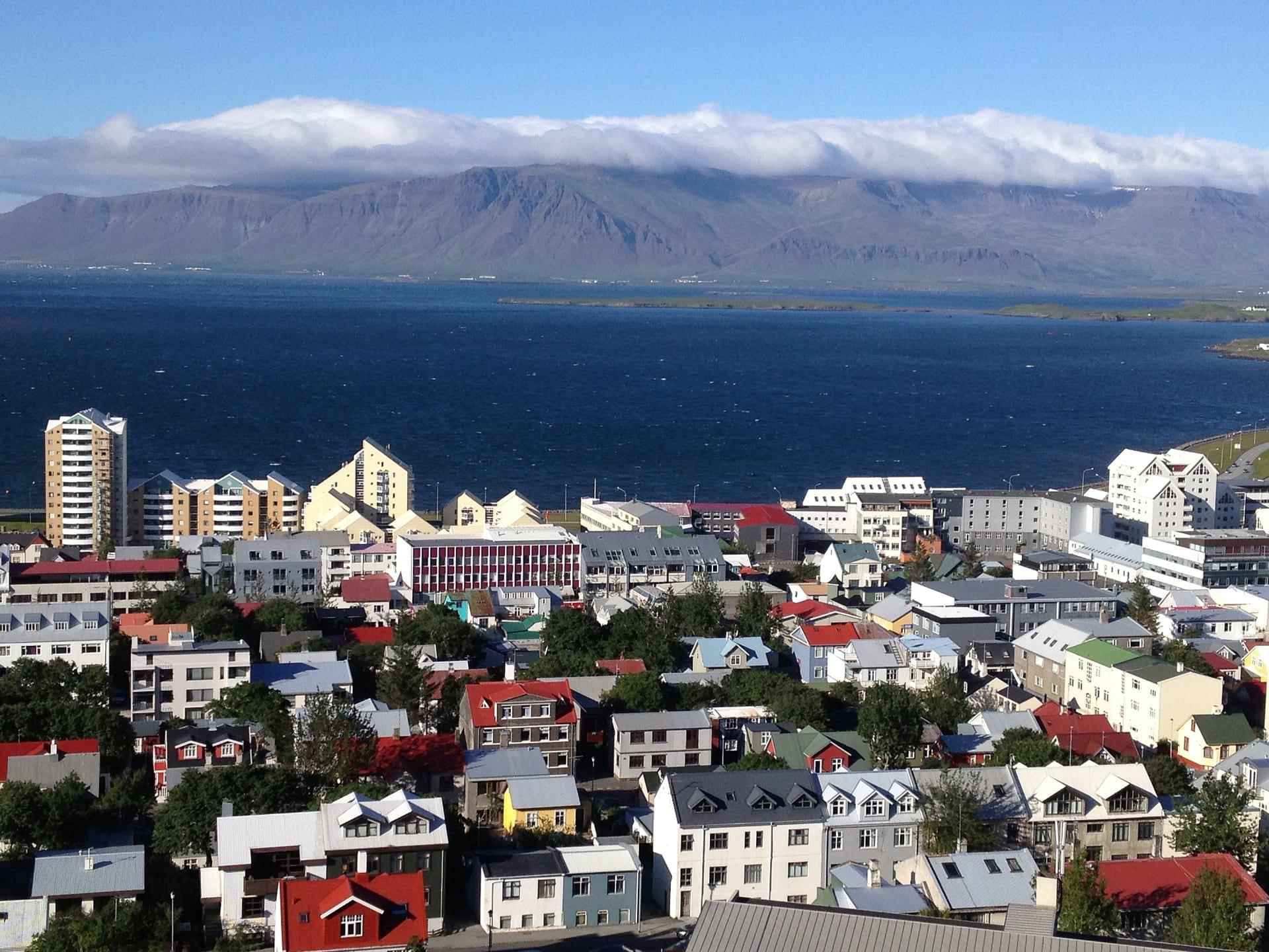 Reykjavik with Mount Esja