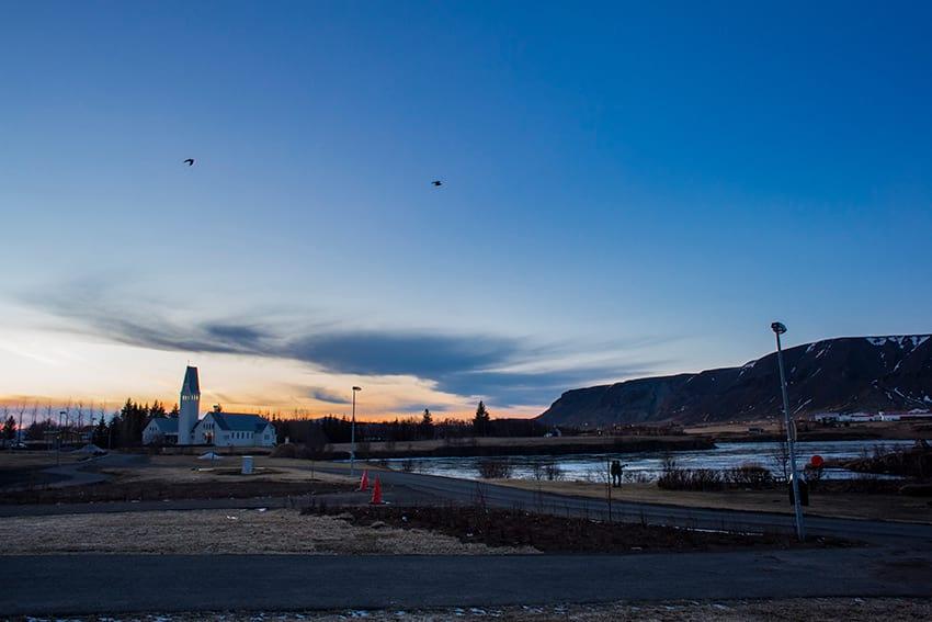 Selfoss town South Coast Iceland