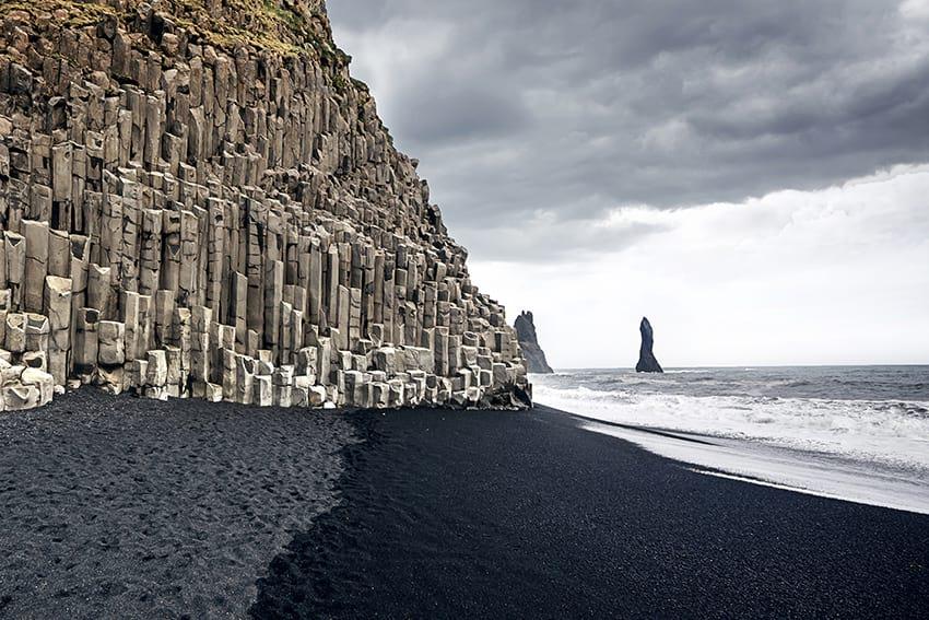 The black sand beach Reynisfjara Iceland