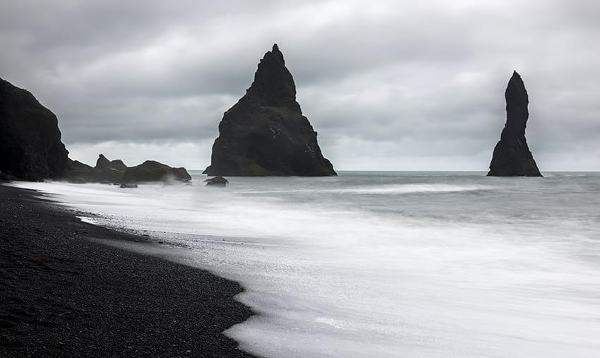 Black sand beach Reynisfjara South Coast Iceland