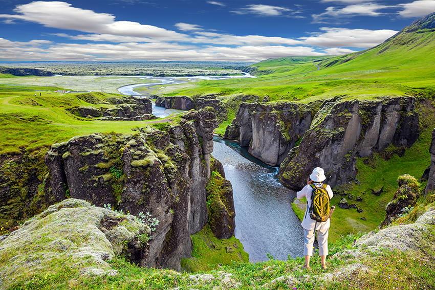Fjadrargljufur Canyon South Coast Iceland