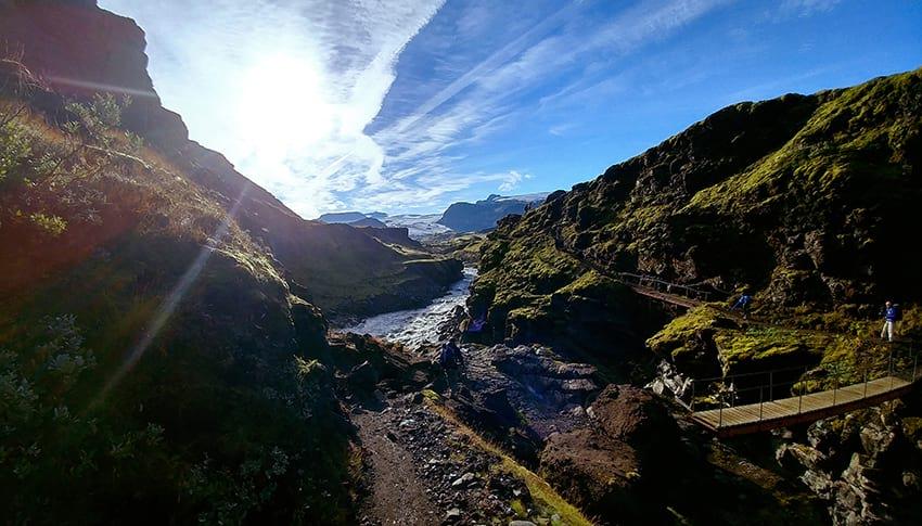 Laugavegur Myrdalsjokull glacier South Iceland