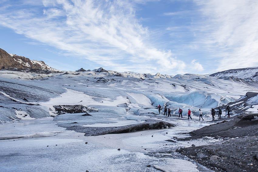 Sólheimajökull glacier hiking South Coast Iceland