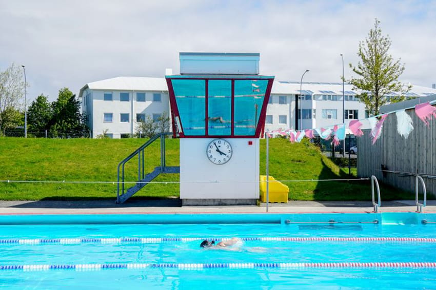 Iceland Swimming pool Vesturbaejarlaug geothermal