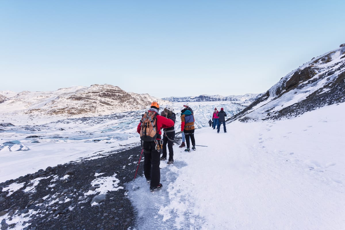 Hiking on a glacier in Iceland is an amazing experience